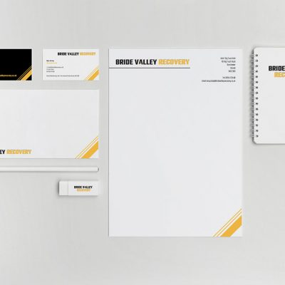 Bride Valley Recovery Stationery Design - by Flavour Marketing