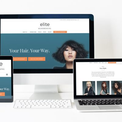 Elite Hairdressing - small business website design in Bournemouth by Flavour Marketing